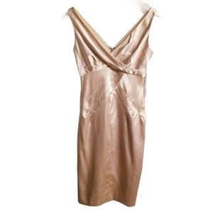 Maggy London Gold Satin Dress NWT Size 2 $100